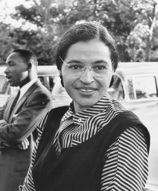 Photograph of Rosa Parks with Dr. Martin Luther King jr. (ca. 1955) | Source: Ebony Magazine/USIA