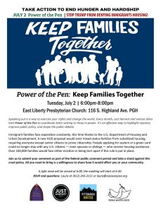 July 2 Power of the Pen: Stop Trump from denying immigrants housing --flyer