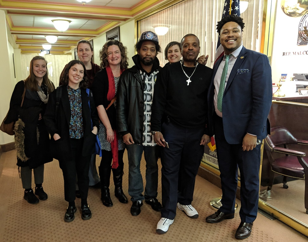 Just Harvest joined staff from Project HOME and Mental Health Partnerships as well as two General Assistance recipients to meet with Pa. State Rep. Kenyatta in Harrisburg, June 2019, regarding saving the program