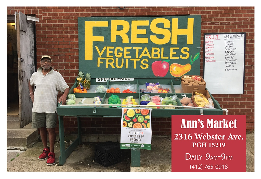 Ann's Market is a Fresh Corners corner store, providing healthy food access at 2316 Webster Ave