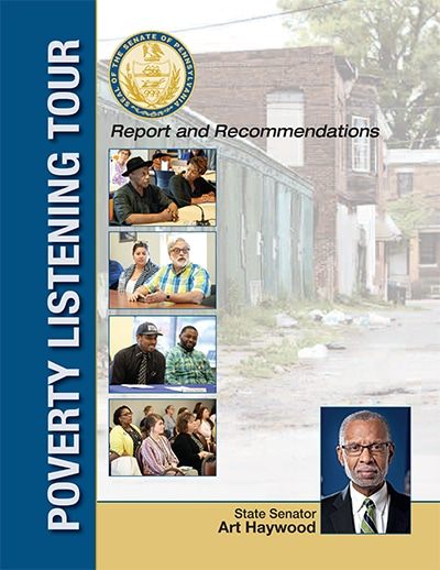Cover of Sen. Haywood's Poverty Listening Tour Report, 2019