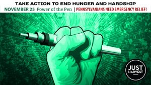 Nov. 25 Power of the Pen: Pennsylvanians Need Emergency Relief!