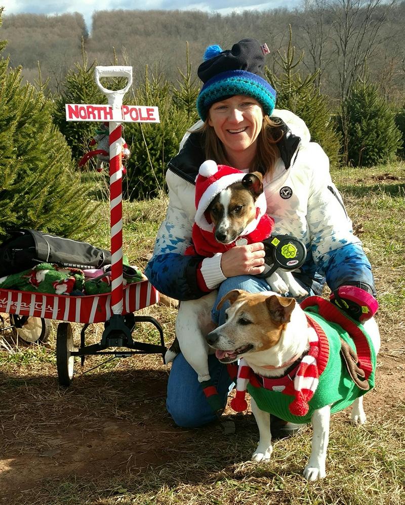 Jamie Zepp and her pups