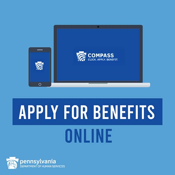 Apply for Benefits Online through PA DHS