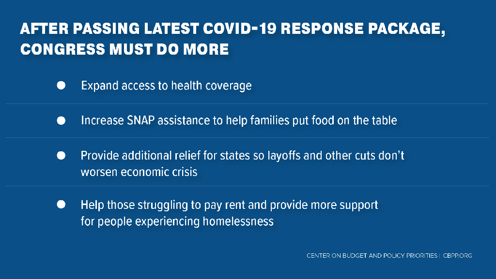 After passing latest covid response bill, Congress must do more (via CBPP.org)