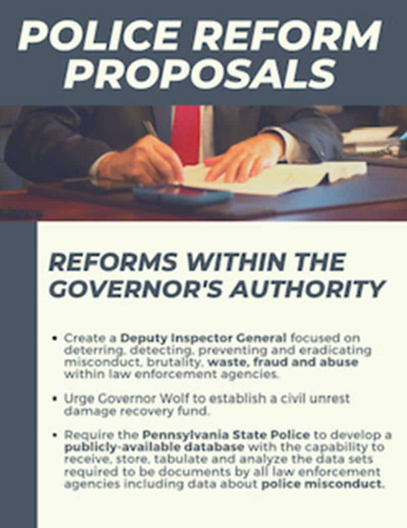 Reforms within the governor's authority