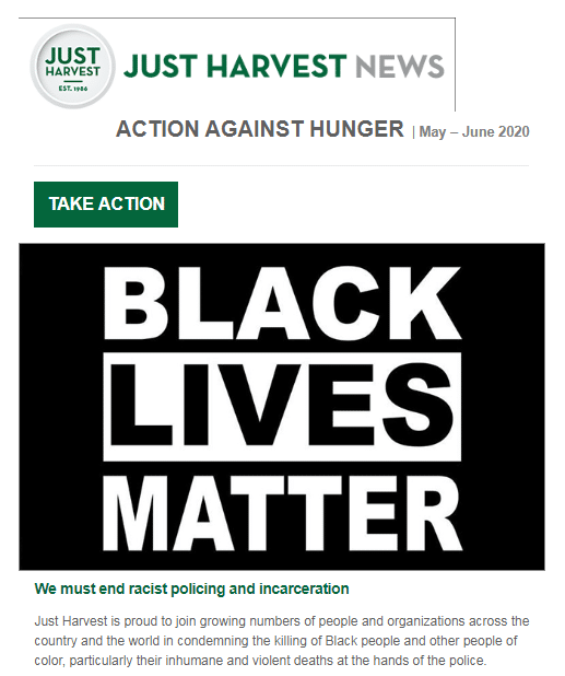 Just Harvest e-Newsletter