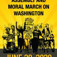 Mass Poor People's Assembly and Moral March on Washington poster