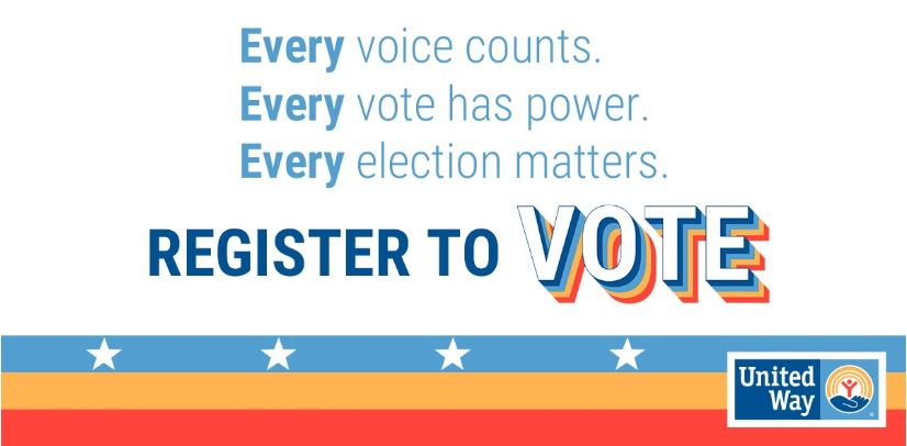 Every voice counts. Every vote has power. Every election matters. Register to VOTE.