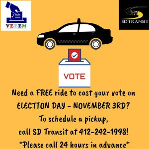 info on free rides to the polls from VEEEM and SD Transit