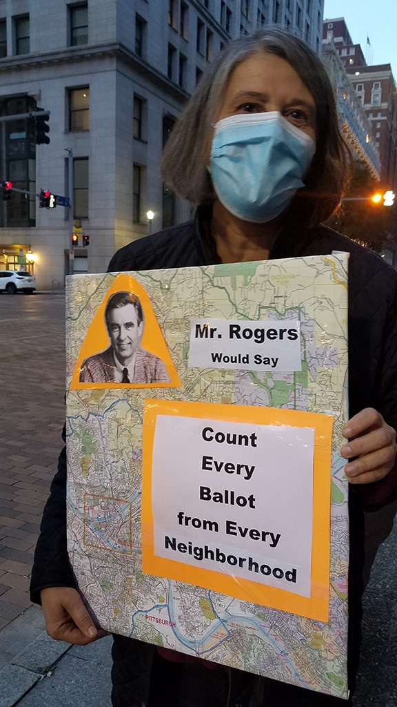 Mr. Rogers would say Count Every Ballot from Every Neighborhood